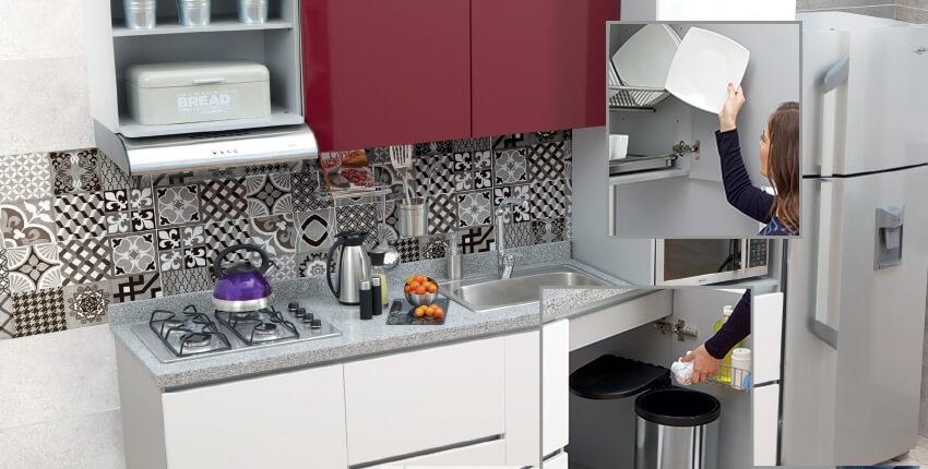 Cocinas en blanco y rojo cool diseo cocina rojo vino blanco with cocinas en blanco y rojo - Eurokit cocinas ...